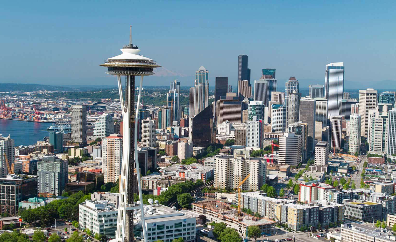 Aerial view of Seattle's Space Needle